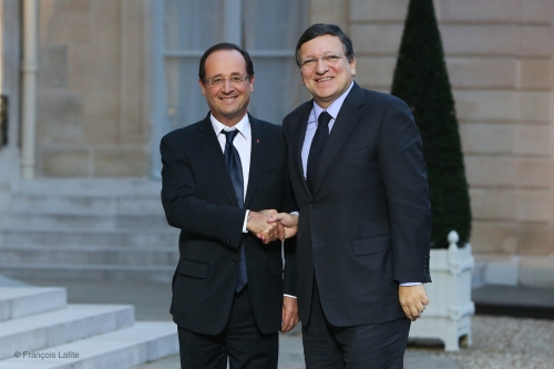 Jose Manuel Barroso a l Elysee